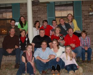 LaNell and Bubba's children and grandchildren Christmas 2010
