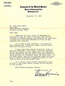 Oren Harris Letter