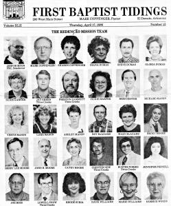 Brazil Mission Team 1986