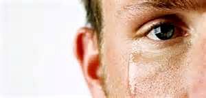 Tearful man