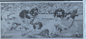 Ark. vs Abilene Christian War Memorial Stadium Sept. 18, 1948 Berry Moore #70